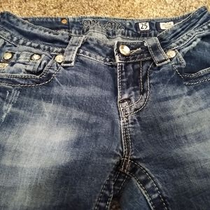 Miss Me Jeans - Miss Me Jeans Size 25x28 Mid-Rise Boot Embellished